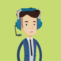 Draadloos headset kantoor